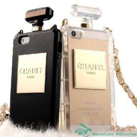 funda-chanel-de-perfume-botella-con-cadena-iphone-4-4s-negro