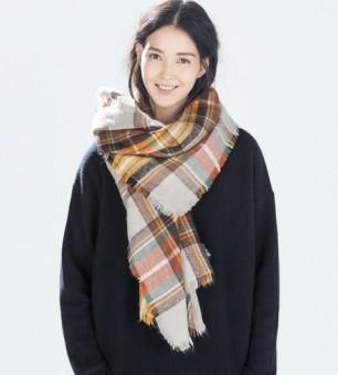 Z-un-envío-gratuito-la-moda-de-invierno-bufanda-2016-venta-caliente-Tartan-Plaid-Scarf-bufanda
